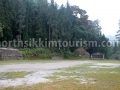 Dzongu football field beside forest