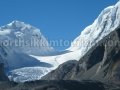 Glaciers above Gurudongmar Lake
