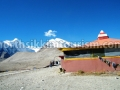 Temple beside Gurudongmar Lake